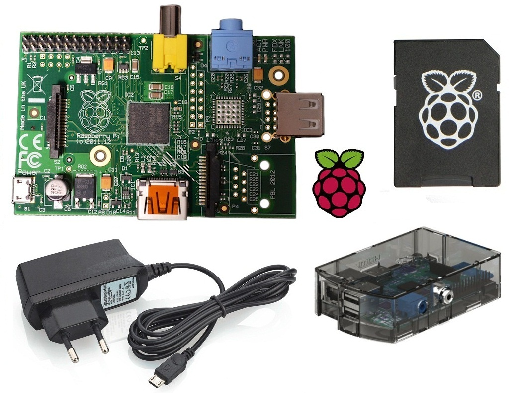 Raspberry-Pi-Model-B-512MB-UK-Version-1-2-Netzteil-Gehaeuse-NOOBS-SD-Karte